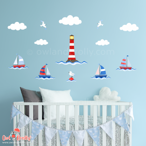 Boats and Lighthouse