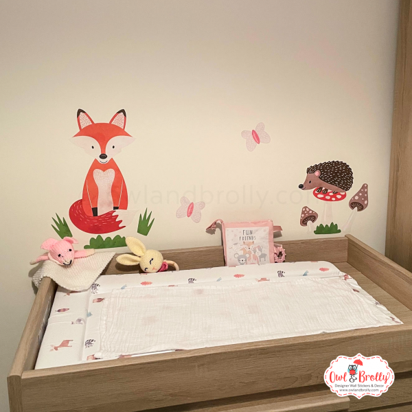 Woodland friends wall sticker nursery decals by Owl and Brolly