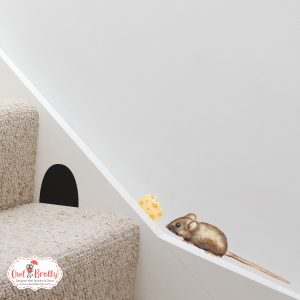 Mouse Watercolour Wall Stickers