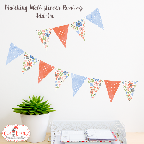 wall decals floral bunting by owl and brolly