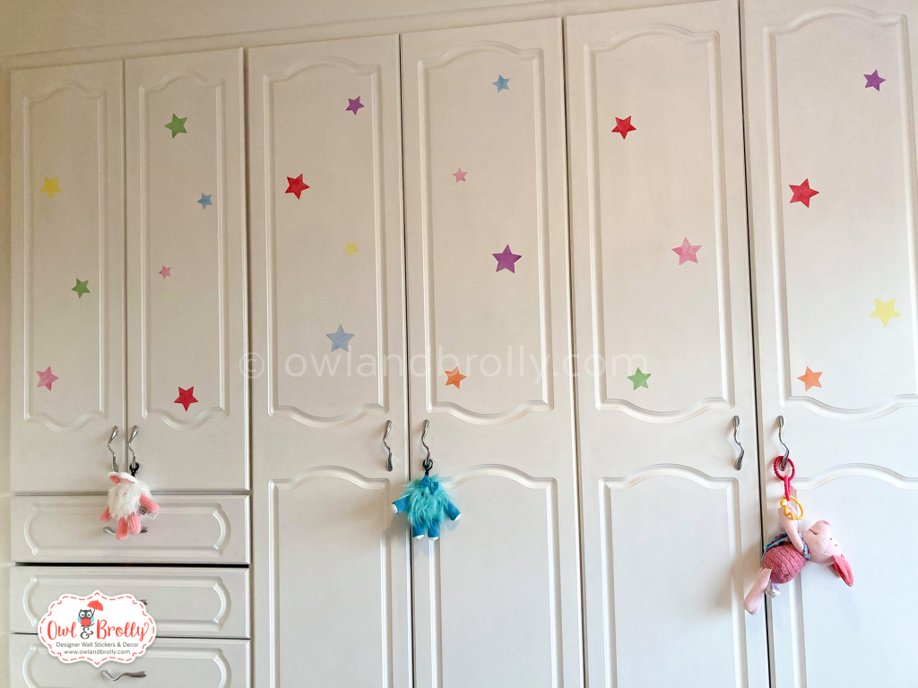 Star bedroom accessories wall sticker decals multi coloured by owl and brolly